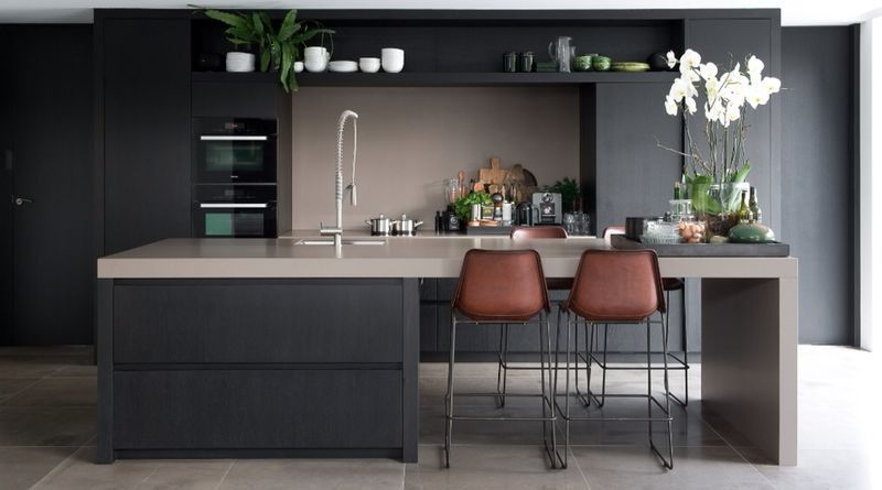 Keukeneiland indeling en kleuren  주방  Pinterest