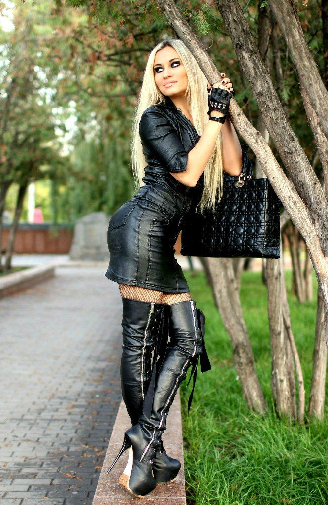 girls in leather and boots