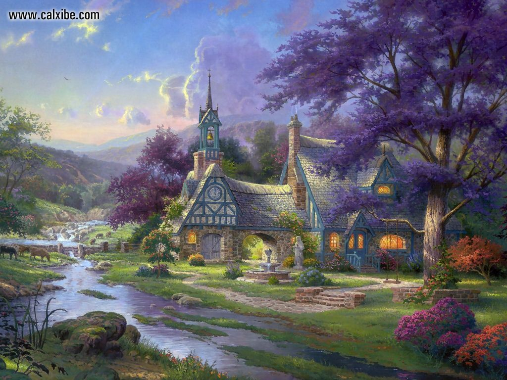 kinkade summer wallpaper drawing - photo #10