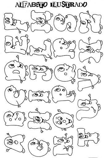 Resultado de imagen para tipos de letras y abecedarios | Rótulos