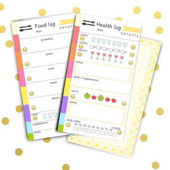 Personal planner inserts - instant download - printable food and ...