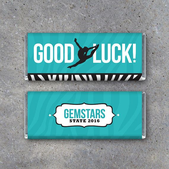 Dance GOOD LUCK Candy Bar Wrapper–Printable Personalized Hershey\'s ...