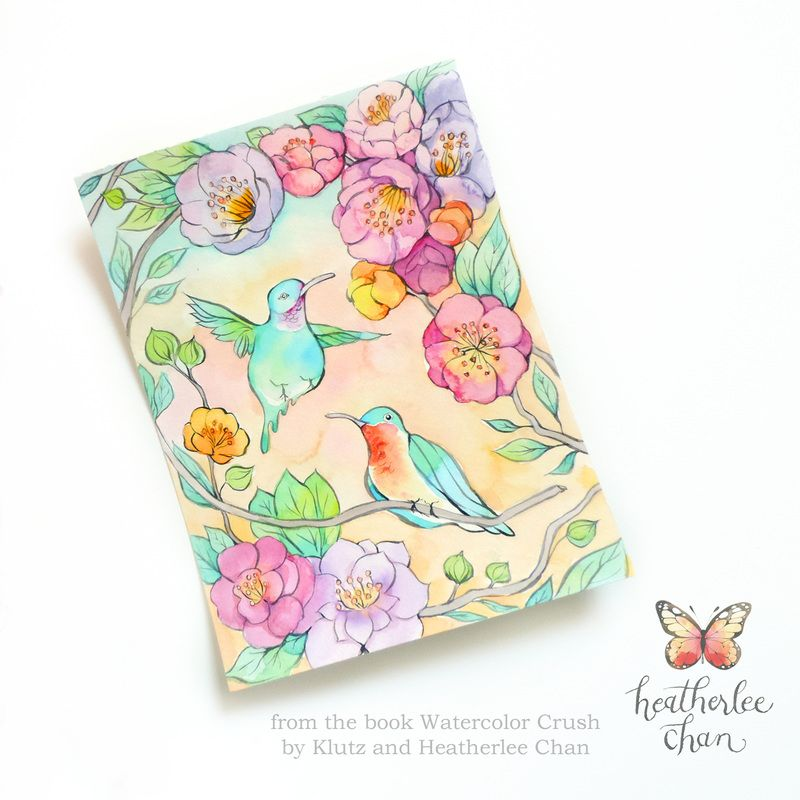 hummingbirds and flowers watercolor watercolor crush a watercolor coloring book by klutz and illustrations by - Watercolor Coloring Book