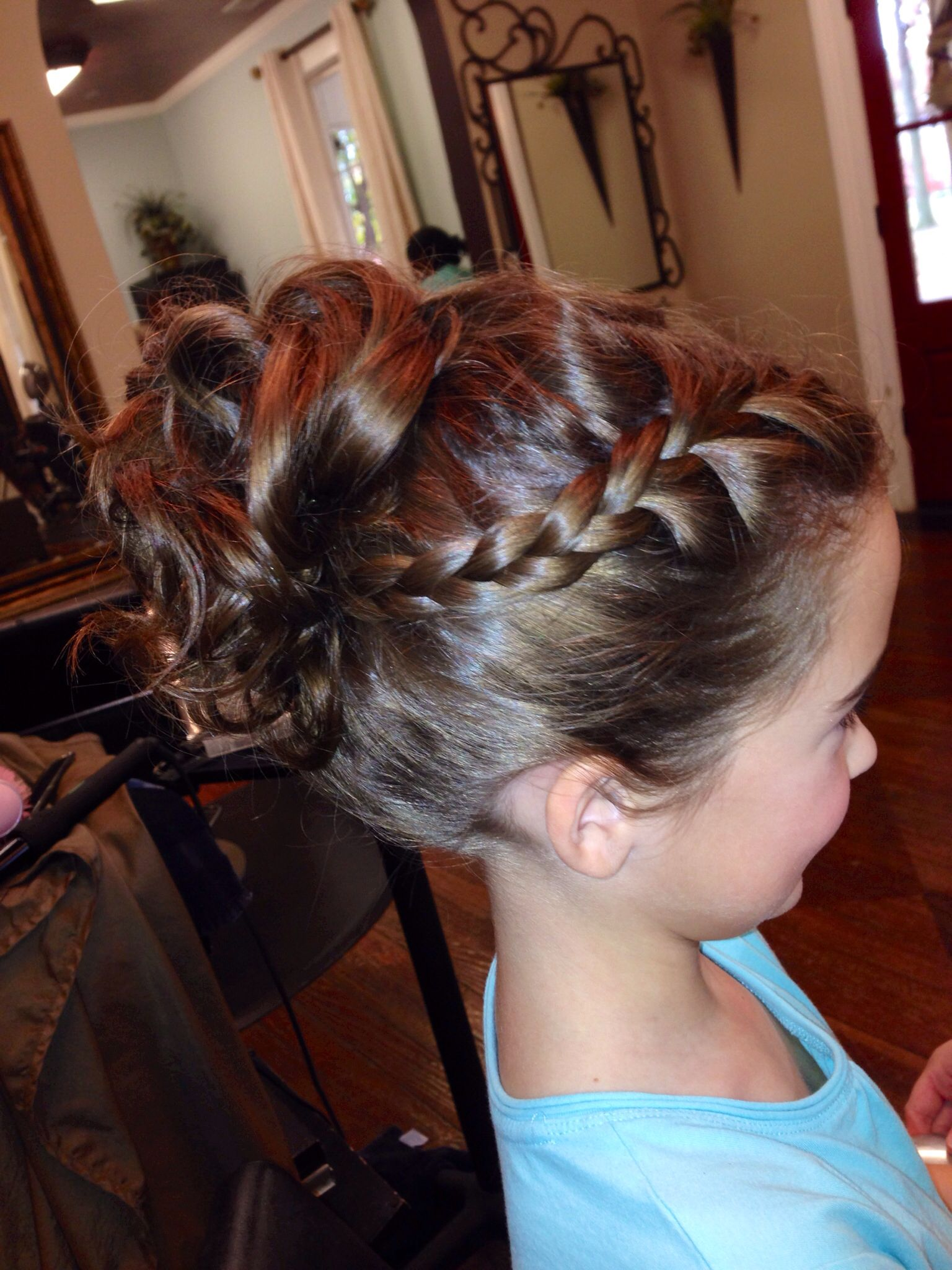 Little Girl Updo Flowergirl Hair And Beauty