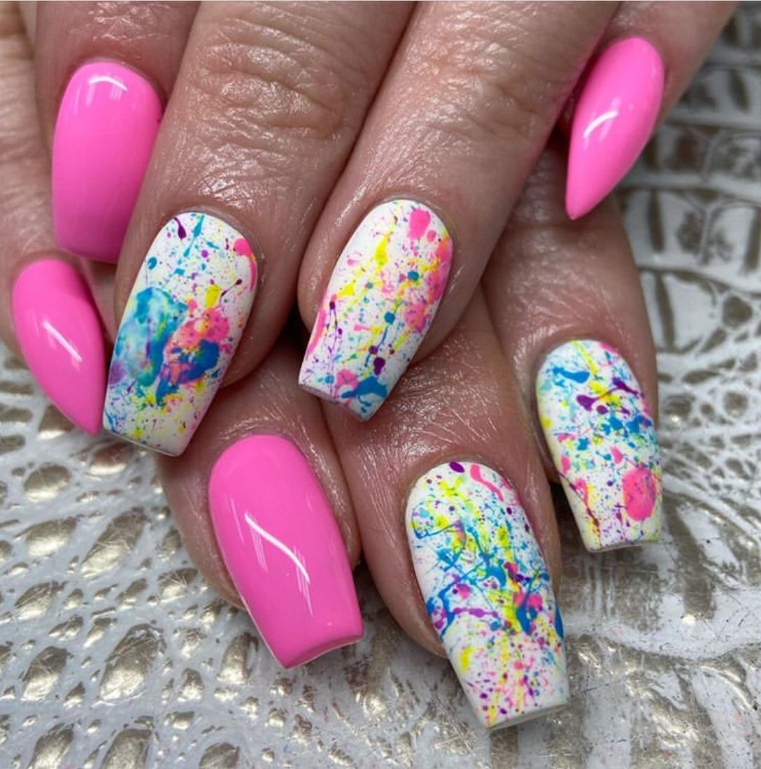70 Stunning Spring Nails 2020 Designs The Glossychic Nail Designs Spring Spring Nails Summer Acrylic Nails