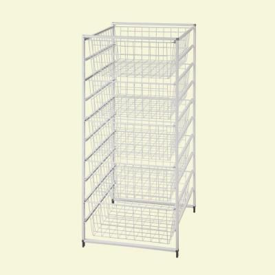 Closetmaid 17 875 In X 41 In Drawer Kit With 5 Wire Basket 6202 Closetmaid Wire Baskets Wire Shelving