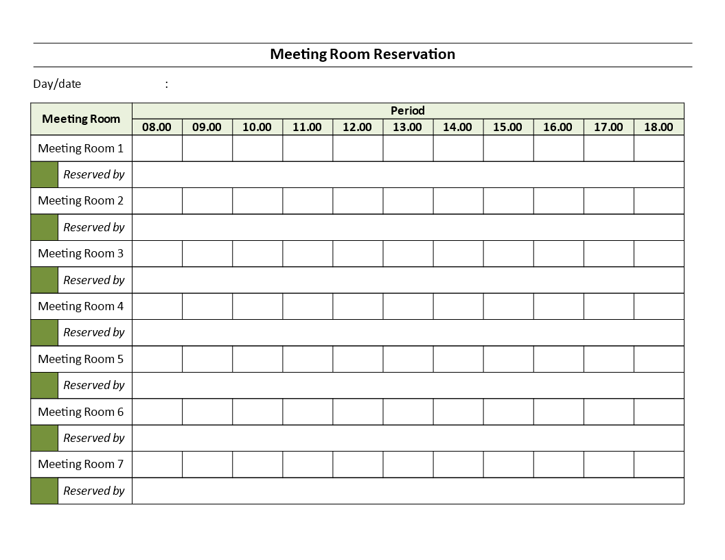 meeting rooms reservation sheet are you managing several meeting