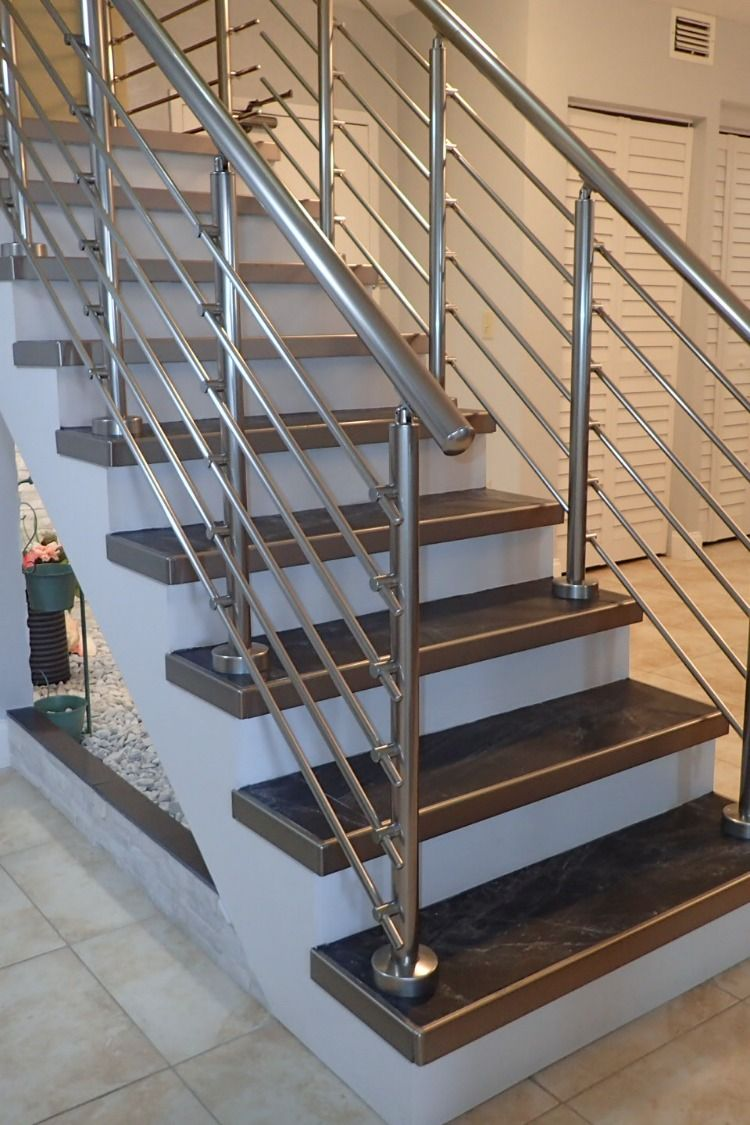 Custom made DIY stair railing kits   Diy stair railing, Stair ...
