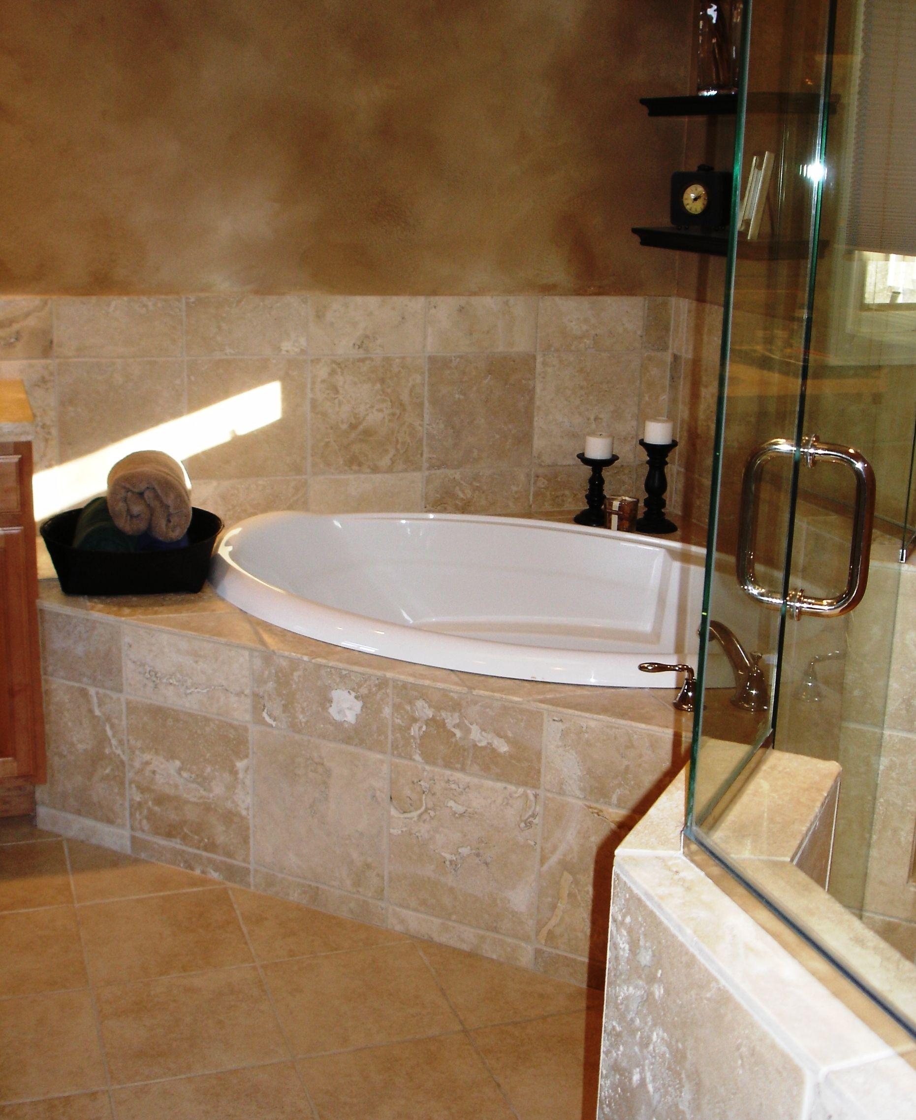 Luxurious Corner Tub Corner Tub Bath Makeover