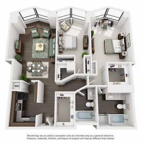 Amazing North Harbor Tower Floor Plans | Studio, One Bedroom, Two Bedroom, And Three