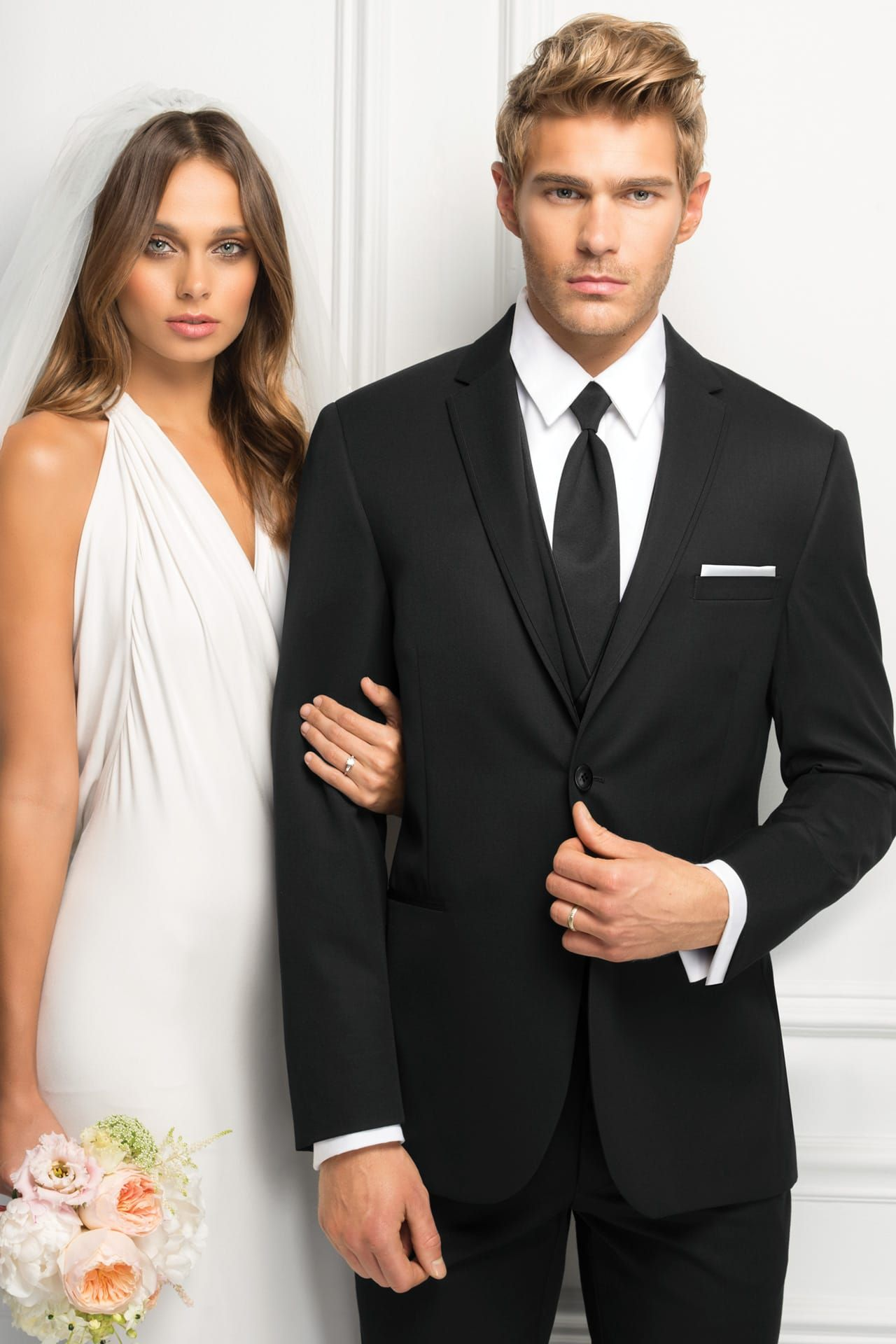 For a classic look with an updated fit, the Black Sterling Wedding ...