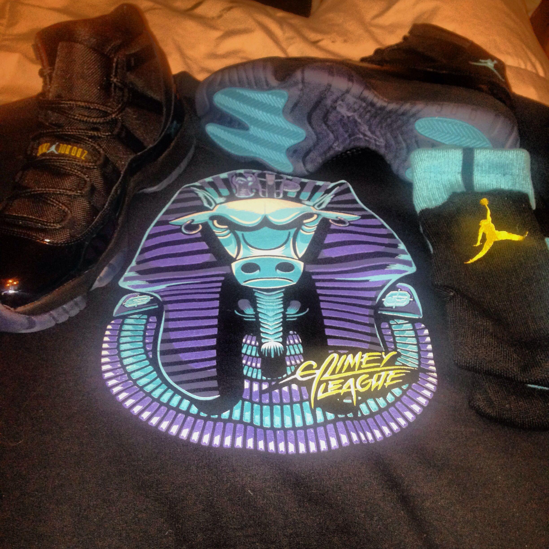 Gamma Blue Retro 11's with Gamma Blue Bulls Shirt. Perfect ...