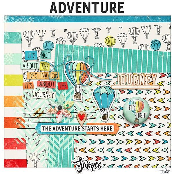"""FREE The Lilypad's """"Life is an Adventure"""" Blog Hop by Just Jaimee - great background papers"""