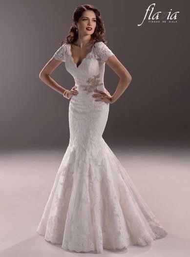Vestido de novia veda-ivory