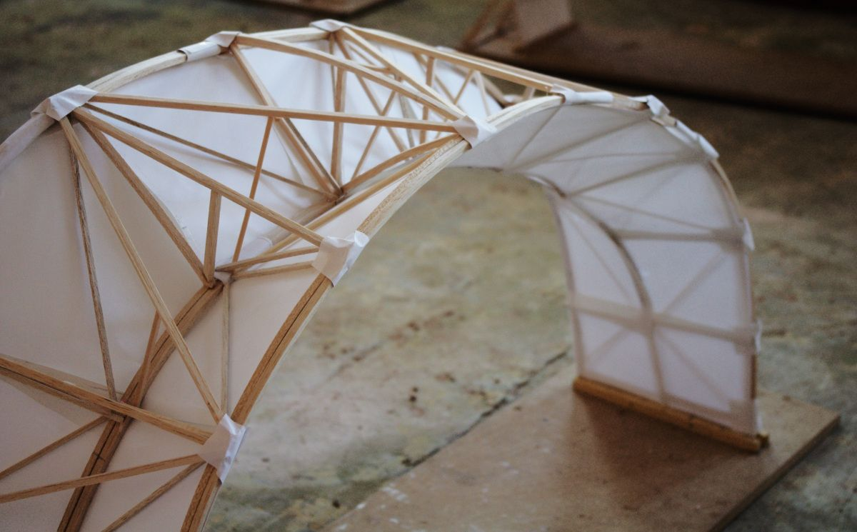 Final Model Long Span Roof Architecture Design Process