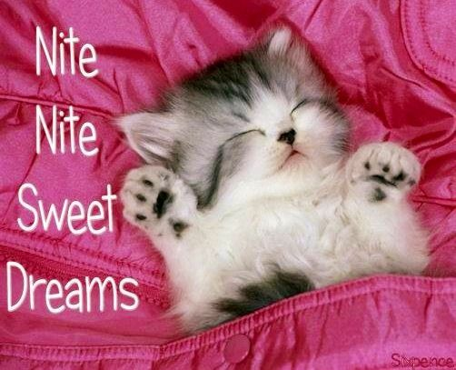Nite and sweet dreams via My Cheery Corner page on Facebook