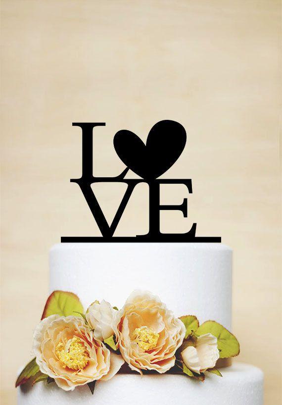 Hochzeitstorte Topper, Liebe Cake Topper, Acryl Cake Topper, personalisierte Cake Topper, einzigartige Cake Topper-P003