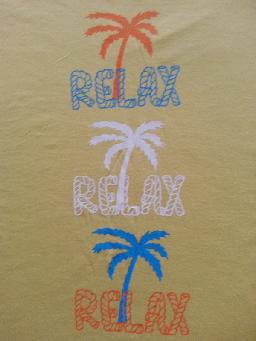 yellow RELAX tee