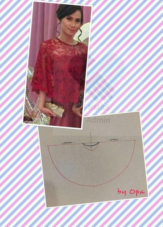 Kebaya Brokat Pakaian Pesta Model Pakaian Pola Jahitan