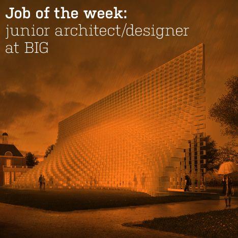 Job of the week: junior architect/designer  at BIG