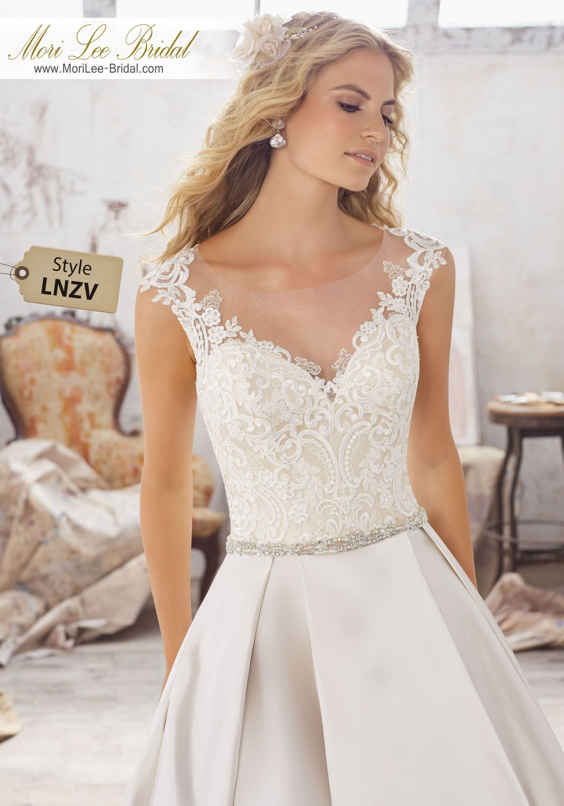 757094c51299 Style LNZV Maclaine Wedding Dress Beautiful A-Line Wedding Dress Features  Frosted