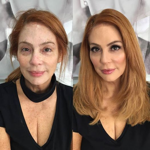 Redhead Before And After Comparaisons Pinterest Makeup - Before and after makeup photos