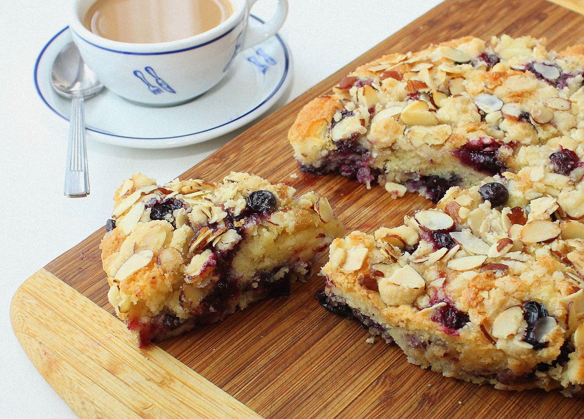 Blueberry almond coffee cake recipe coffee cake