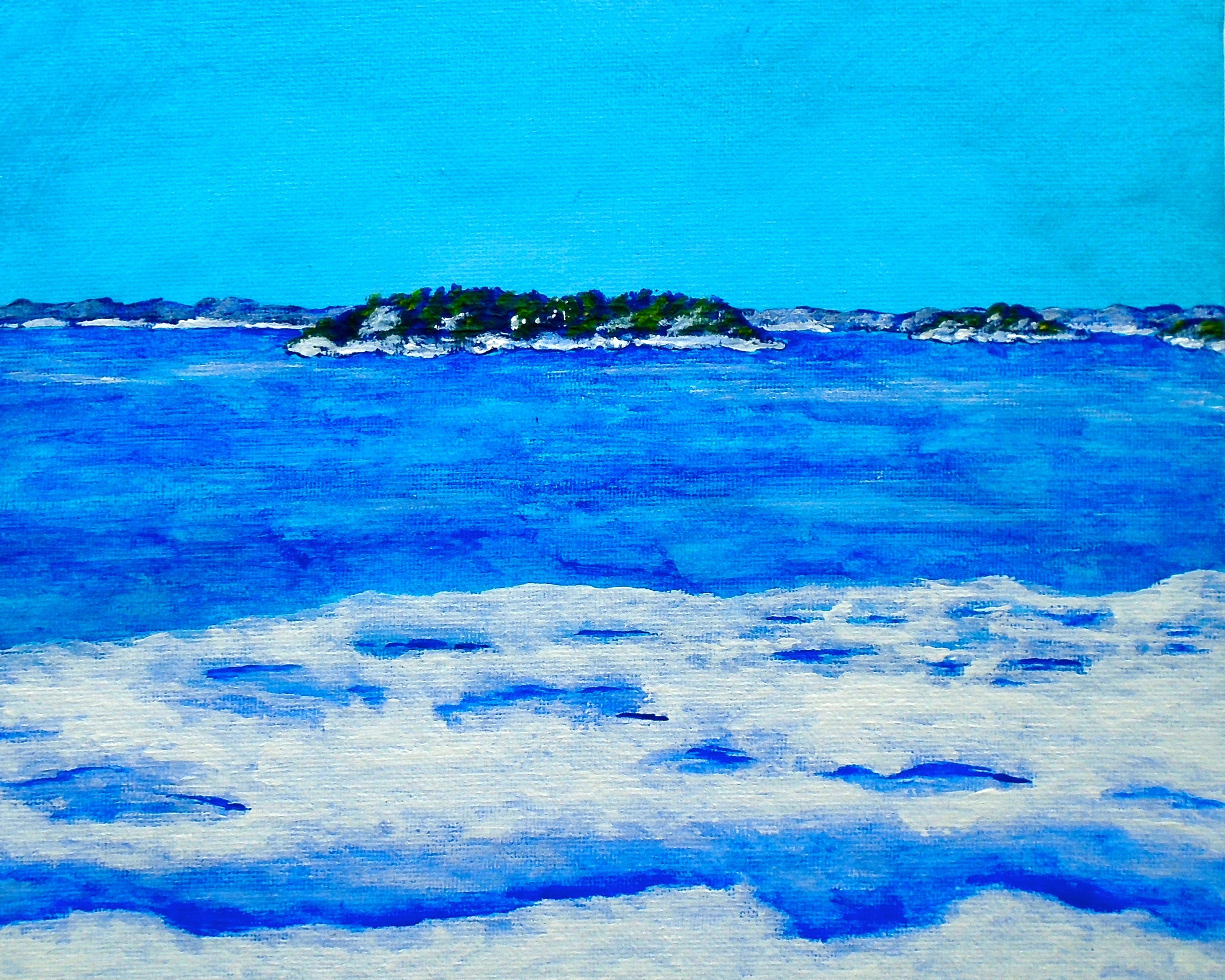 Icy Shore of the St. Lawrence River (ORIGINAL ACRYLIC