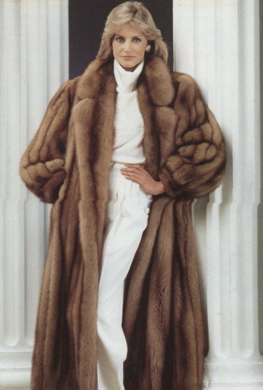 Liz in her new mink. She bought it after she won her first big ...
