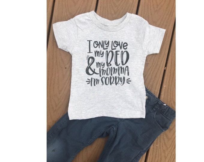 Download I only love my bed and my momma I'm sorry toddler raglan ...