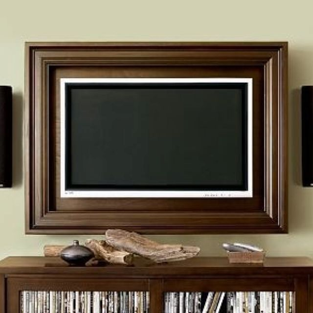 How To Build A Tv Frame Tutorial Framed Tv Wall Mounted Tv