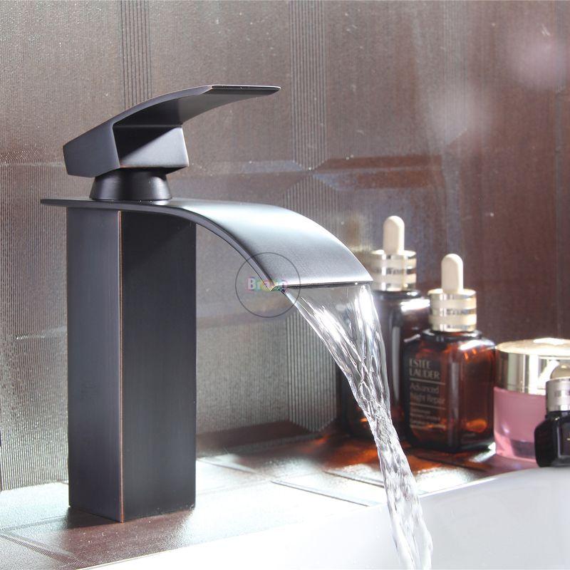 Gold Matte Black 3pcs 2 Knob Wall Mount Faucet Bathroom Tub Basin Sink Mixer Tap