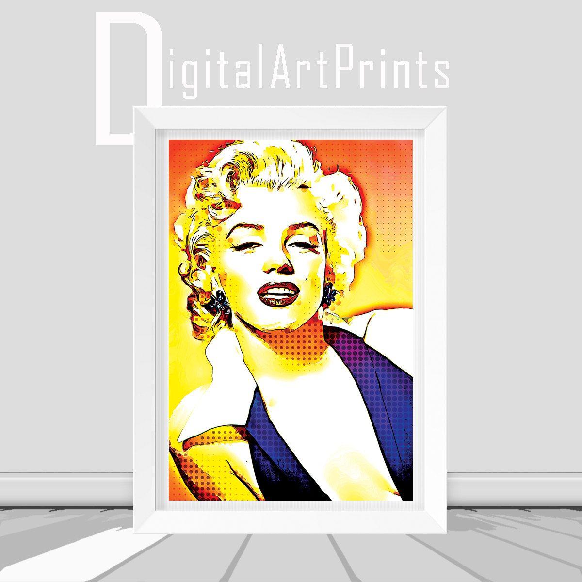 Marilyn Monroe Poster Marilyn Monroe Art Monroe Print Wall Decor ...