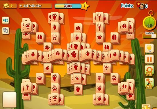 Mahjong Trails (Facebook)  I like the tiles with the cute