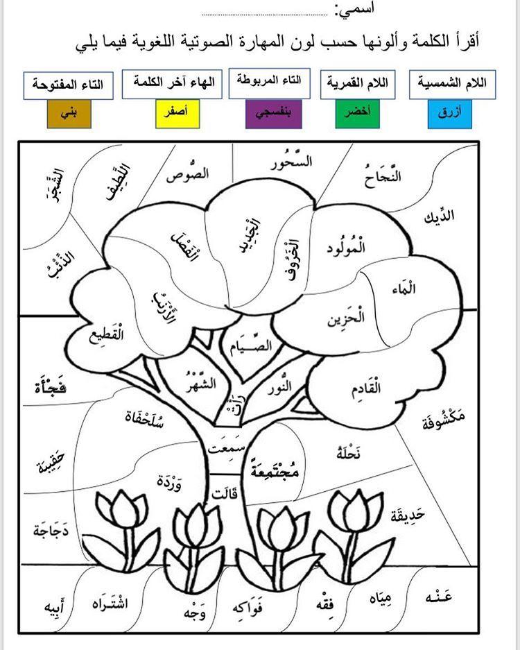 Photo Instagram De الصف الأول أ منى القحطاني 7 Fevrier 2019 21 28 Apprendre L Arabe Langue Arabe Feuilles D Exercices