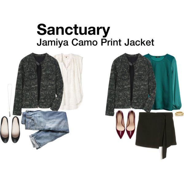 """Jamiya Camo Print Jacket"" by hanger731x on Polyvore"