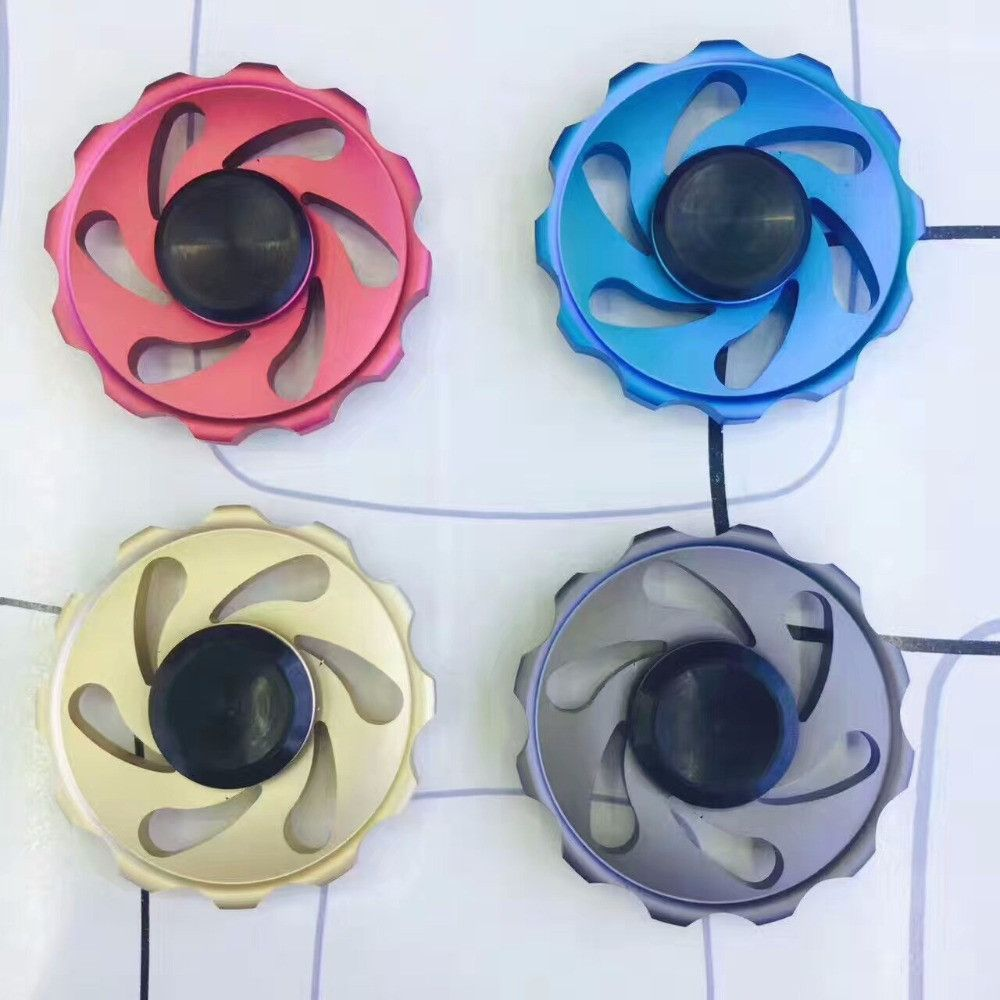 Fidget Spinner Aluminum alloy Wheel Shape Hand Spinner Custom Bearing Gift for Children and Adult  #toy #spinners #adult #focus #anxiety #bispinner #fidgettoy #beautiful #adhd #fidget