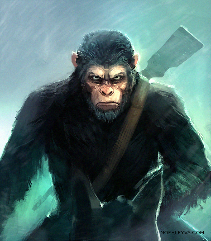 War For The Planet Of The Apes Caesar Fan Art By Noe Leyva Planet Of The Apes Apes Cartoon Wallpaper Hd