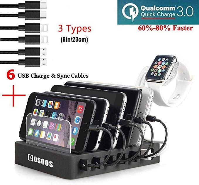 Fastest Charging Station With Quick Charge Qc 3 0 6 Phone Charger