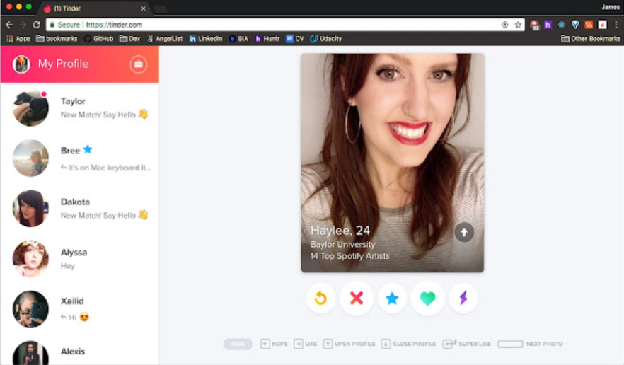 Tinder in pc
