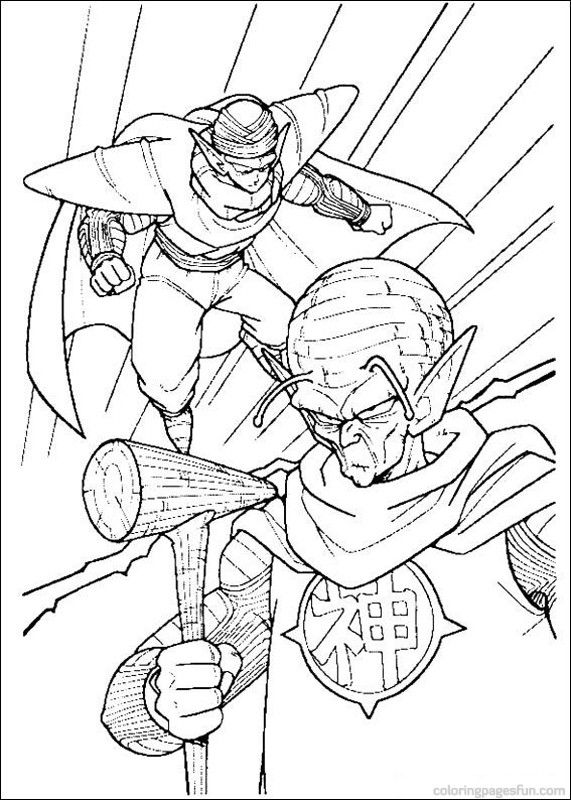coloring pages dragonballz - photo#31