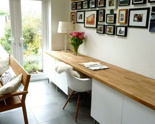 Kleines Arbeitszimmer ~ Schreibtisch im esszimmer bücherregal und schreibtisch pinterest