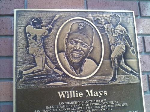 """AT Park """"Wall of Fame"""" plaque."""
