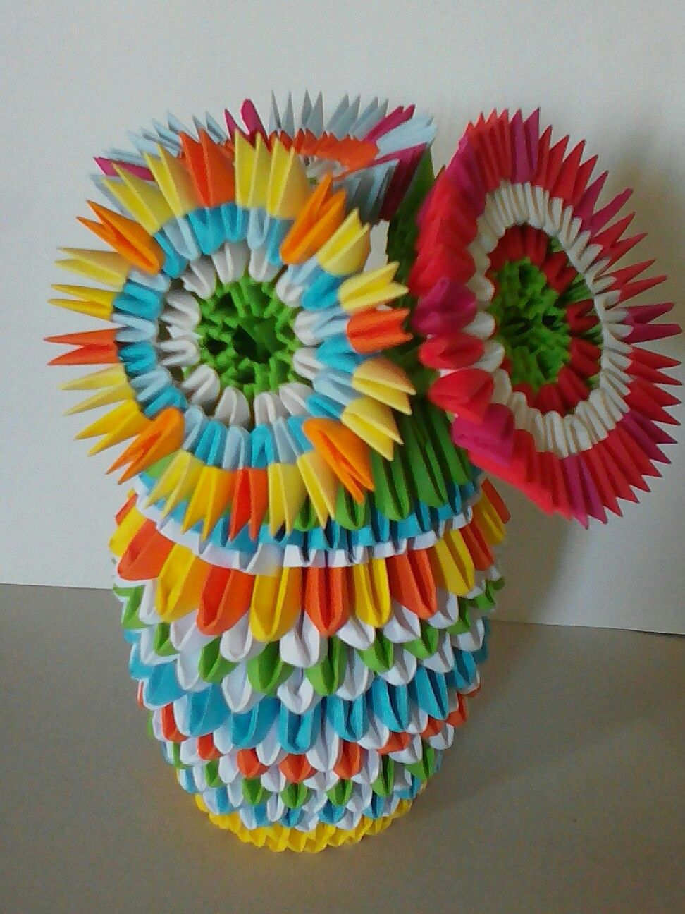 Vase à fleurs origami Fabiola MD   ORIGAMI 3D   Pinterest   Origami