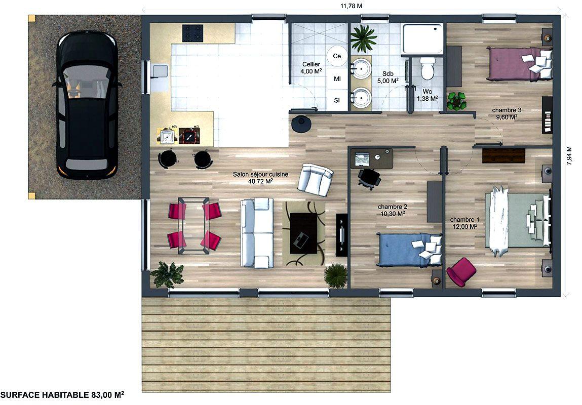 plan maison wooden