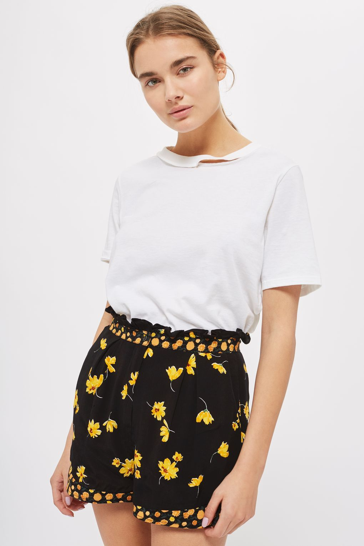Mix Floral Frill Flip Shorts - Shorts - Clothing - Topshop USA