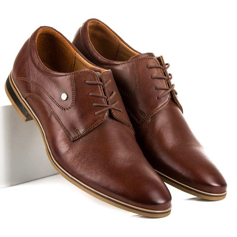 Polbuty Meskie Marioboschetti Brazowe Eleganckie Buty Na Wiazanie Mario Boschetti Dress Shoes Men Oxford Shoes Men Dress