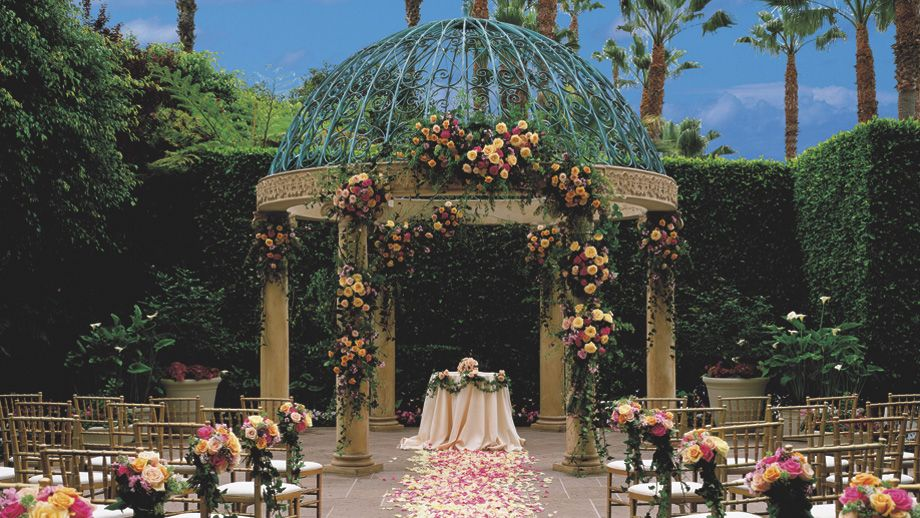 The Ritz Carlton Marina Del Rey A Wedding Ceremony In The Rose Garden Is Truly Magnificent Garden Weddings Ceremony Garden Wedding Garden Wedding Favors