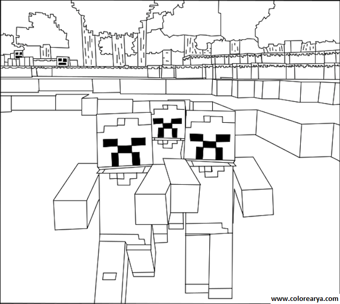 dibujos minecraft para colorear - Buscar con Google | ideas para ...