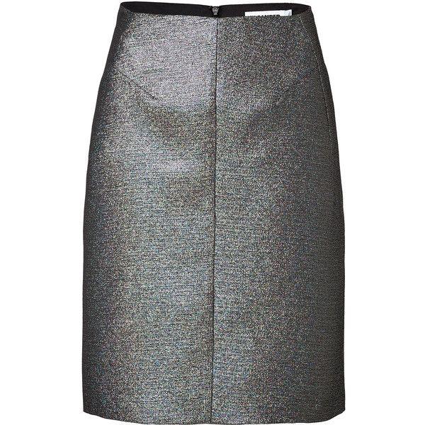 Jil Sander Jacquard Metallic Pencil Skirt (4,535 MXN) ❤ liked on Polyvore